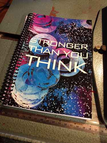 Brittany's custom fitness journal printed great!