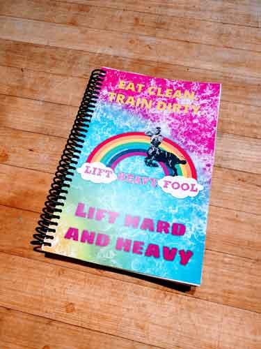 Rhonda's weightlifting journal printed great