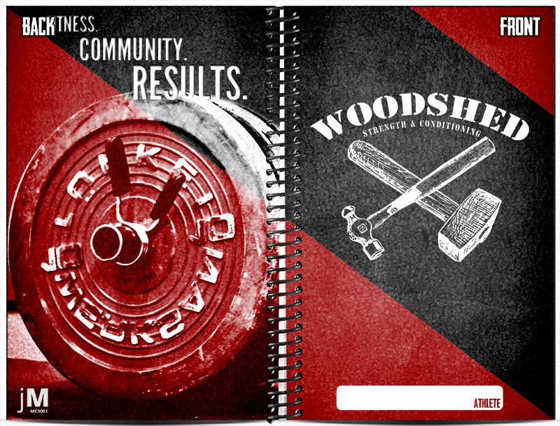 Woodshed Fitness custom wholesale journals for strength and conditioning