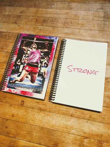 Erika's wod journal and a surprise journal gift that I hope she loves