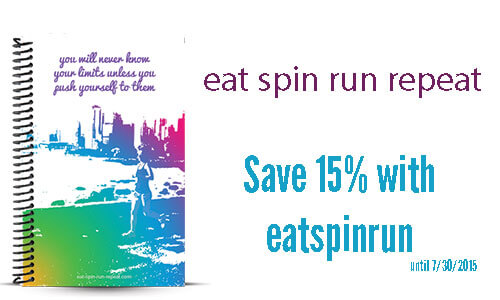 Eat Spin Run Repeat custom running journal review and coupon