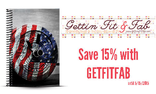 Getting fit and fab custom running and weightlifting journal and coupon code