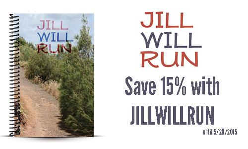 Jill will run custom running journal and journal coupon
