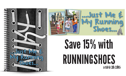 Just Me and my Running Shoes custom running journal and journal coupon