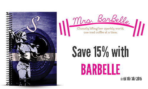 Mrs. Barbelle custom wod journal and journal coupon