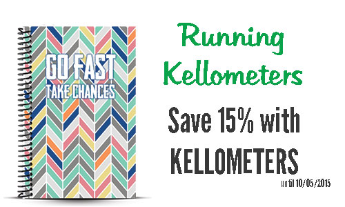 Running Kellometers custom running planner and journal coupon