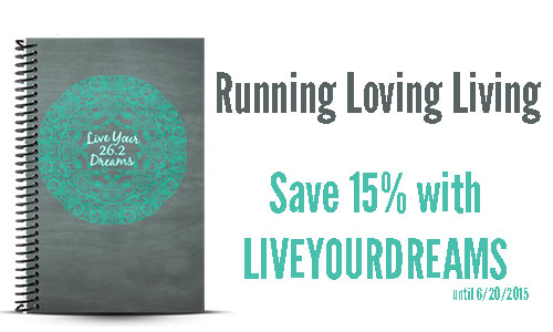 Running Loving Living Custom log book and coupon
