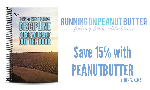 Running on Peanut Butter custom run tracker and journal coupon