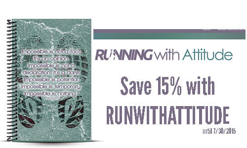 Running with attitude custom running journal and journal coupon
