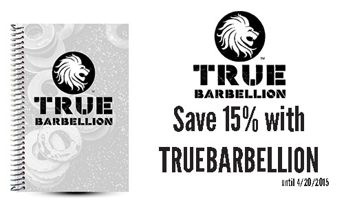 True Barbellion Custom WOD Journal Review and Coupon