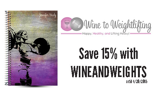 Wine to Weightlifting Custom Weightlifting Journal Review