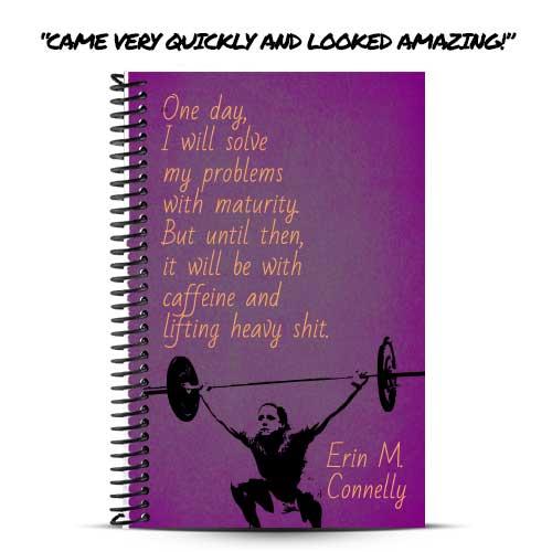 Brynn loves her custom lifting journal