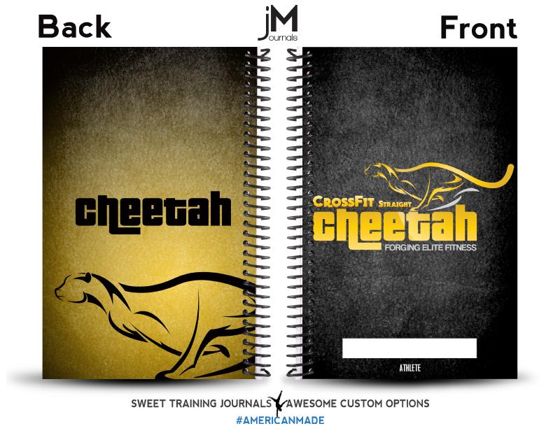 CrossFit Straight Cheetah custom wholesale crossfit journal