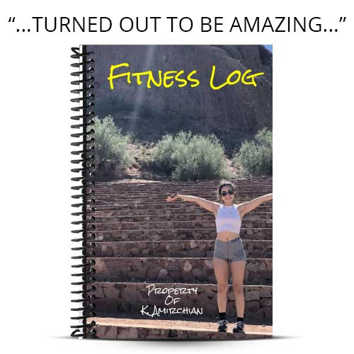 yellow and brown fitness journal cover for girlfriend