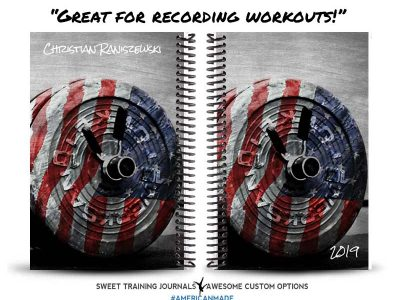 Christian's American Barbell custom fitness journal