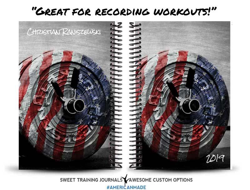 Christian's American Barbell custom fitness journal