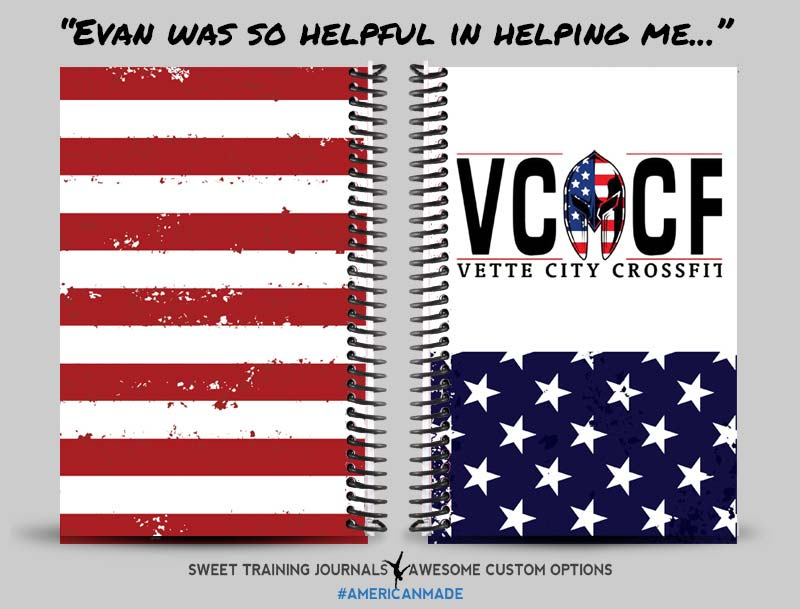Vette City CrossFit Red white and blue fitness and wod journal