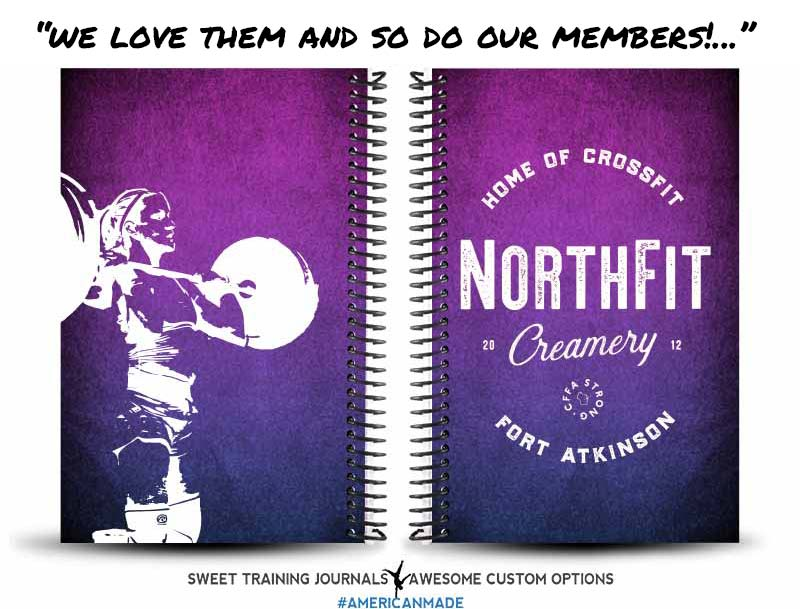 CrossFit Fort Atkinson's purple and pink Custom wholesale wod journal