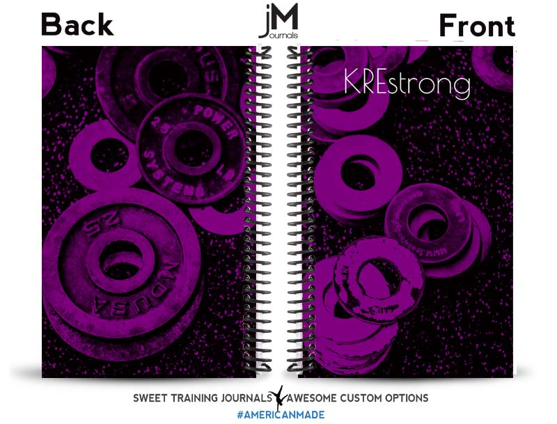 Kristie's purple and pink fitness journal