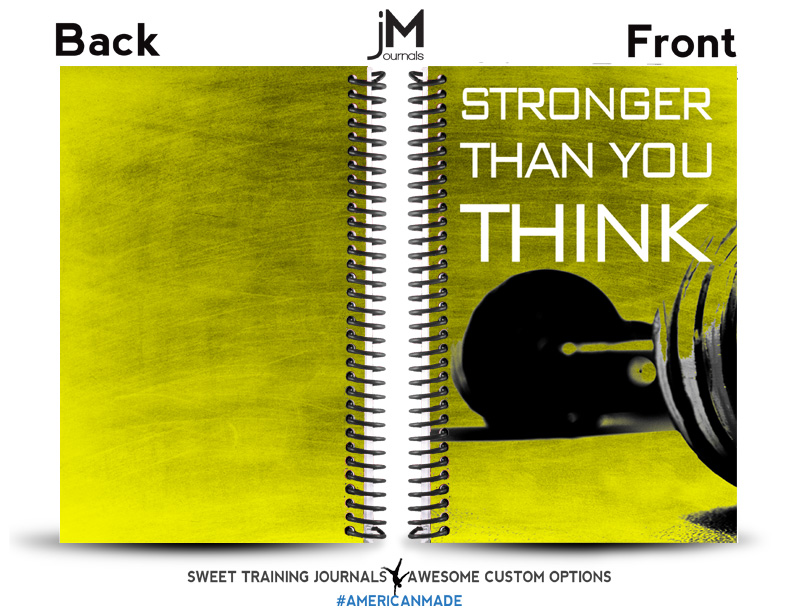 Madison's yellow and black custom workout journal