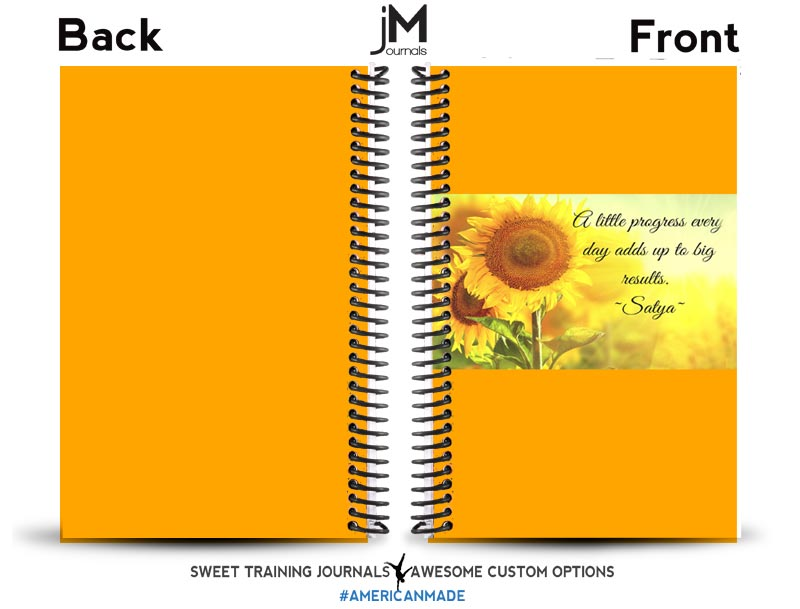 Sheri's yellow cover for her custom build a journal