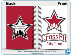 CrossFit City Line Red and white cover with grey logo on back