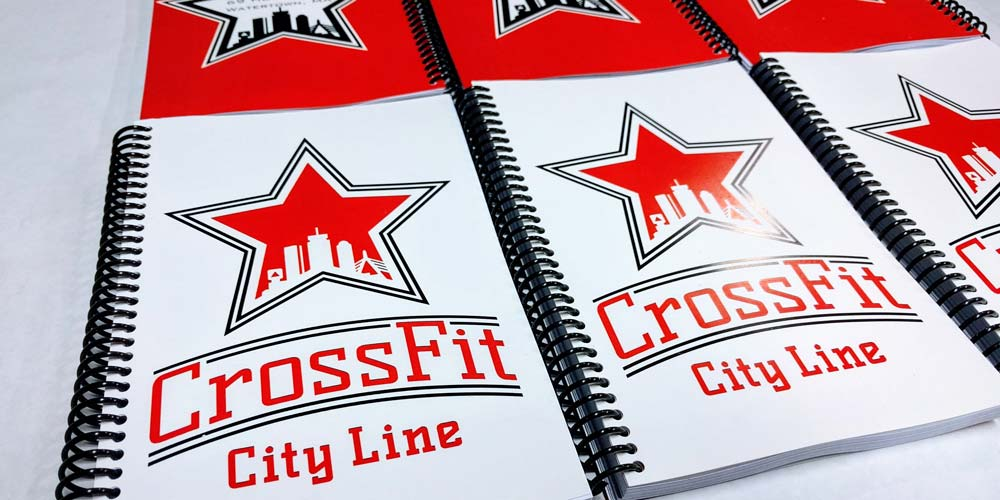 CrossFit City Line Red and White Journal with Red logo