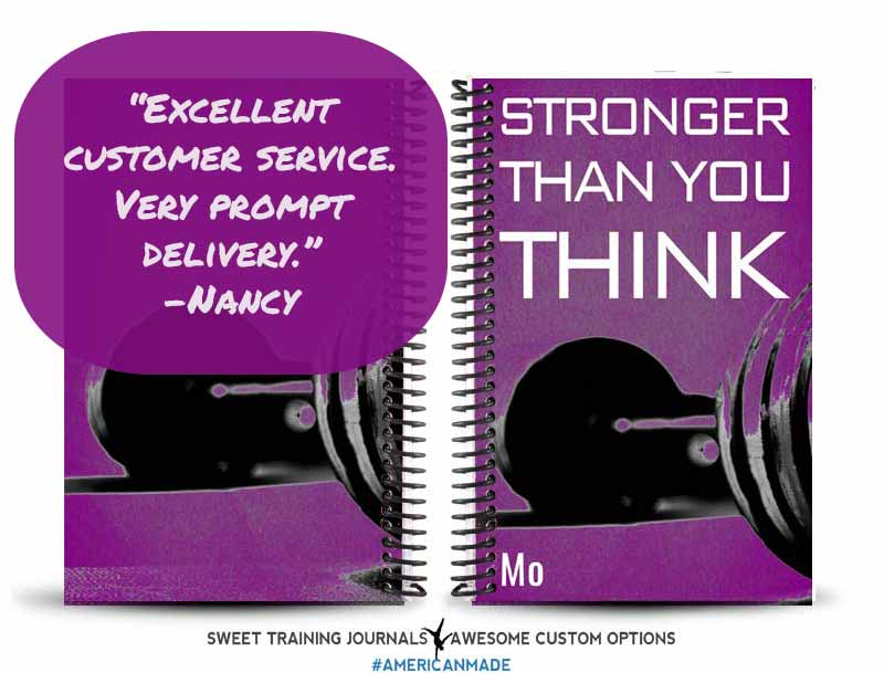 Nancy's purple and white stronger than you think fitness journal