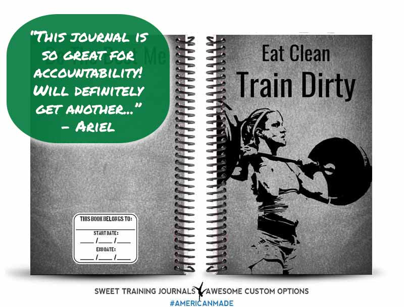 Ariels custom black and grey fitness journal