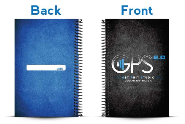 Get Phit Studio 2.0 black and blue challenge journal