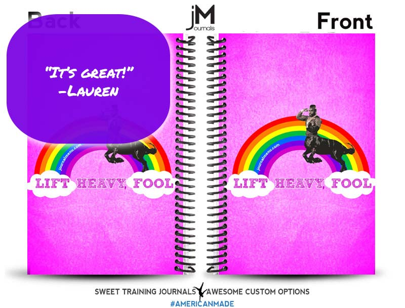 Lauren's pink and white mr t clipart wod journal