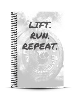 workout journal product front cover