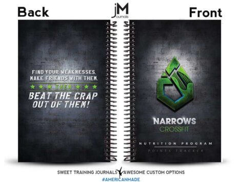 Narrows CrossFit Nutrition Challenge Notebook black front and back cover
