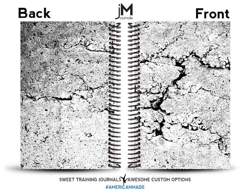 black and white asphalt cracks journal