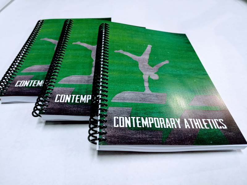 Contemporary Athleteics Green and White Custom Fitness and Nutrition Journal