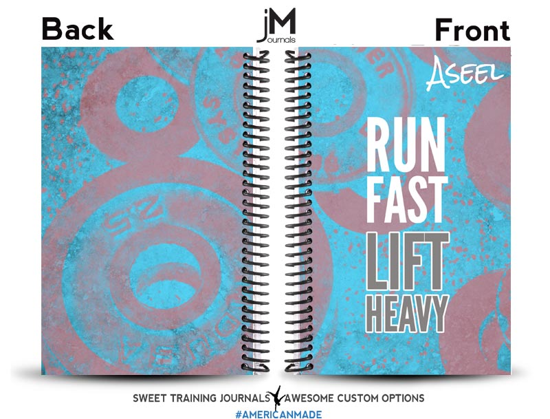 Monica's blue and grey fitness and running journal