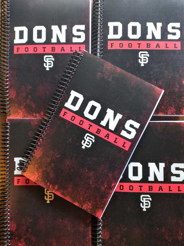 Dons football custom training and fitness journal