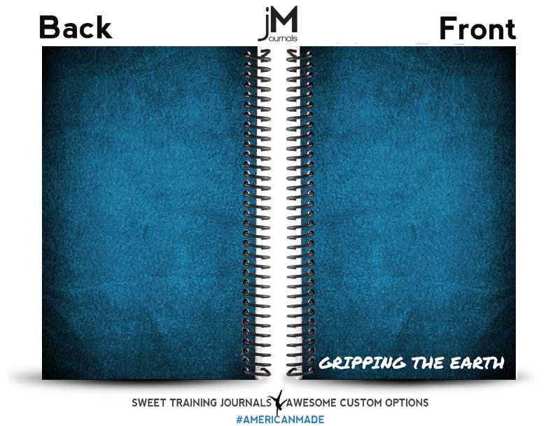 Blue custom rock climbing journal and training log