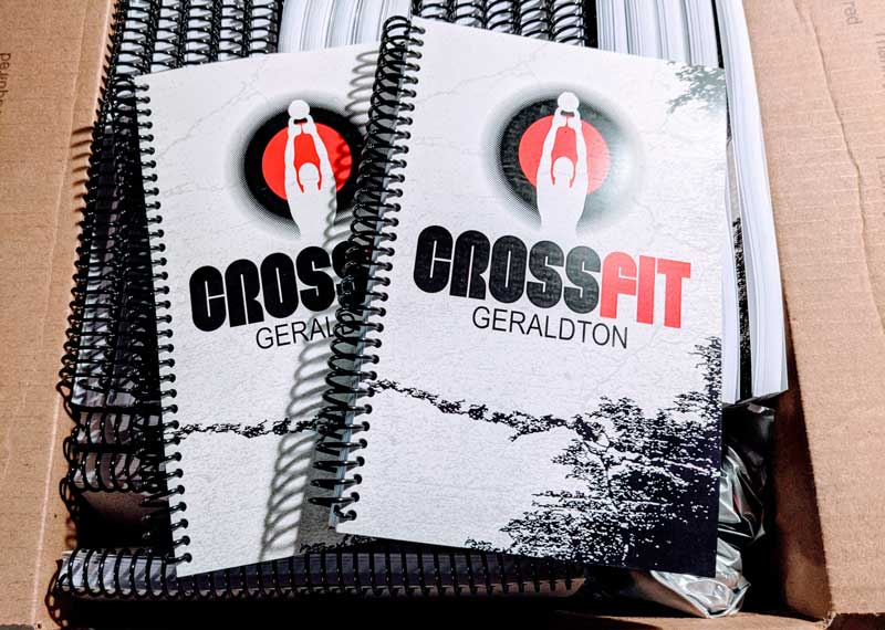 CrossFit Geraldton white red and black wod and crossfit journals