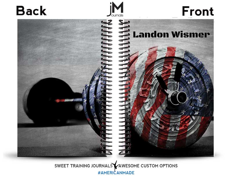 grey red and blue custom wod journal for crossfit