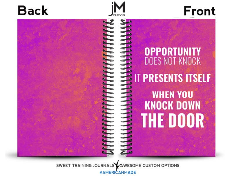 Maegan pink and orange personal training journal