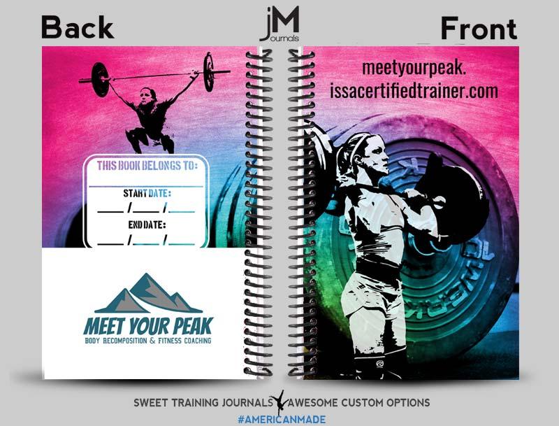 Brian's Meet your peak rainbow weightlifting journal