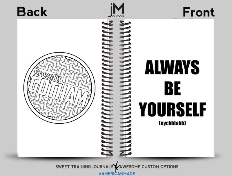CrossFit-Gotham-5 custom wholesale journal for crossfit with logo and text