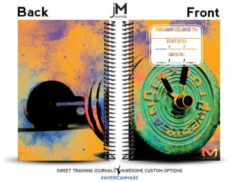 Mixx Fitness orange black and green journal